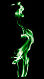 Green flame of fire on a black background Royalty Free Stock Photo