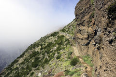 Green flanks of the pico arieiro on madeira island Stock Photography