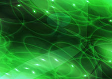 Green Flare Background Stock Photography