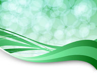 Green flare background template Stock Photography