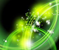 Green flaring background - flash. Clip-art Stock Photo