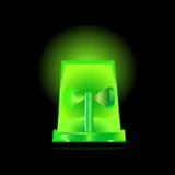 Green flashing siren Stock Images