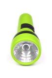 Green flashlight. On white background royalty free stock images