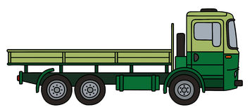 Green flatbed truck Stock Photography