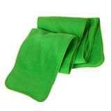 Green fleece folded scarf Royalty Free Stock Photos