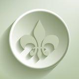 Green Fleur-de-lis Stock Photography