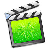 Green flilm slate vector Royalty Free Stock Photo