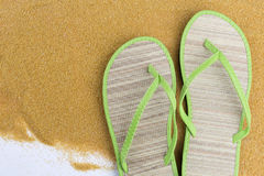 Green flip flips Stock Photography