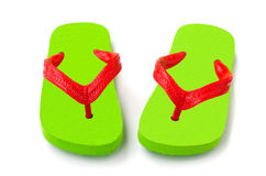 Green flip flop isolated Stock Photography
