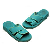 Green flipflops on isolated Stock Photo