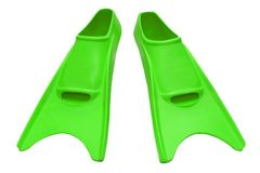 Green flippers isolated Royalty Free Stock Photos