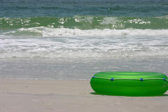 Green Float and Sea Stock Image