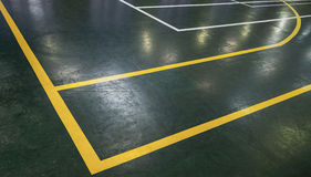 Green floor of sports hall Royalty Free Stock Image