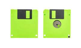 Green floppy disk Stock Image