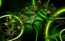 Green, Flora, Fractal Art, Leaf stock photo