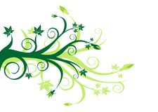 Green Floral Stock Images