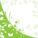 Green floral Stock Image