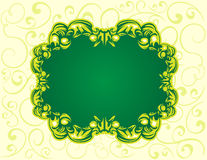 Green floral back banner Royalty Free Stock Images