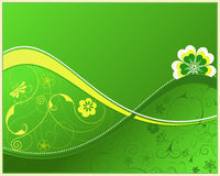 Green floral background. Perfect for different type of design Royalty Free Illustration