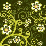 Green floral background Royalty Free Stock Images