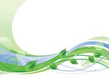 Green Floral Background royalty free illustration
