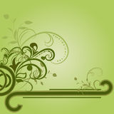 Green floral background. With copy space Royalty Free Stock Photo