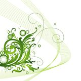 Green floral background stock illustration