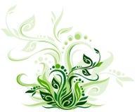 Green floral background stock illustration