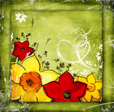 Green floral background Stock Photo