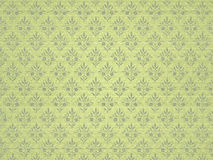 Green floral background. Green floral background with a seamless pattern Royalty Free Stock Image