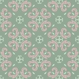 Green floral background. Seamless pattern with flower designs. For wallpapers, textile and fabrics Royalty Free Stock Photos