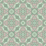 Green floral background. Seamless pattern with flower designs. For wallpapers, textile and fabrics Stock Photo