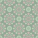 Green floral background. Seamless pattern with flower designs. For wallpapers, textile and fabrics Royalty Free Stock Photography