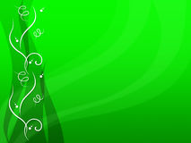 Green Floral Background Shows Flower Stem And Growth Stock Photography