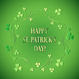 Green floral background for st patrick`s day - vector. Green floral background for st patrick`s day -  vector Stock Photo