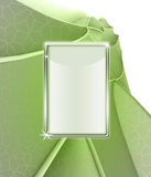Green floral background with tablet screen frame Royalty Free Stock Photos
