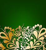 Green Floral Background. Vector illustration Royalty Free Stock Photography