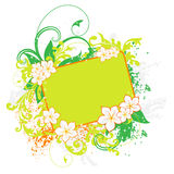Green floral banner Royalty Free Stock Images