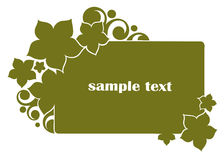 Green floral banner Stock Images