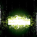 Green Floral Banner Royalty Free Stock Photo