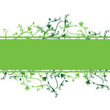 Green floral banner. For website designs, background and others Royalty Free Stock Photo