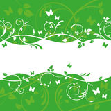 Green Floral Banner Design Stock Photos