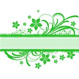 GREEN FLORAL BANNER stock image