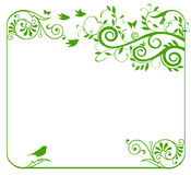 Green floral border Stock Photos