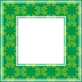 Green floral border Royalty Free Stock Images