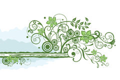 Green floral border element Royalty Free Stock Image