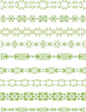 Green floral border Stock Photography