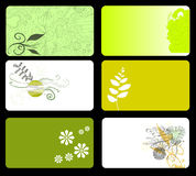 Green Floral Business Cards stock image