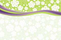 GREEN floral card Stock Images