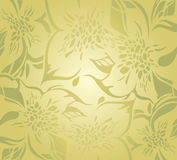 Green floral decorative holiday background Stock Photo
